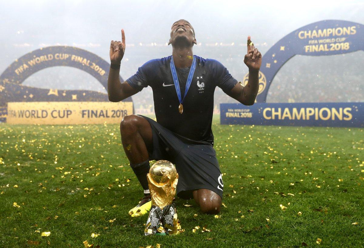 #BestOfWorldCup:  🙏🏆🎊 #WorldCup Champion @paulpogba 🇫🇷   15/07/2018 #FRACRO