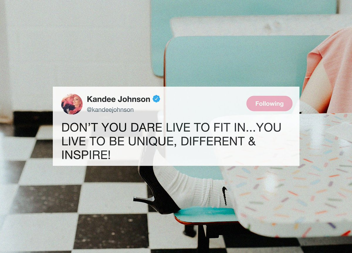 Our #FridayMotivation is coming straight from Queen @kandeejohnson 👑