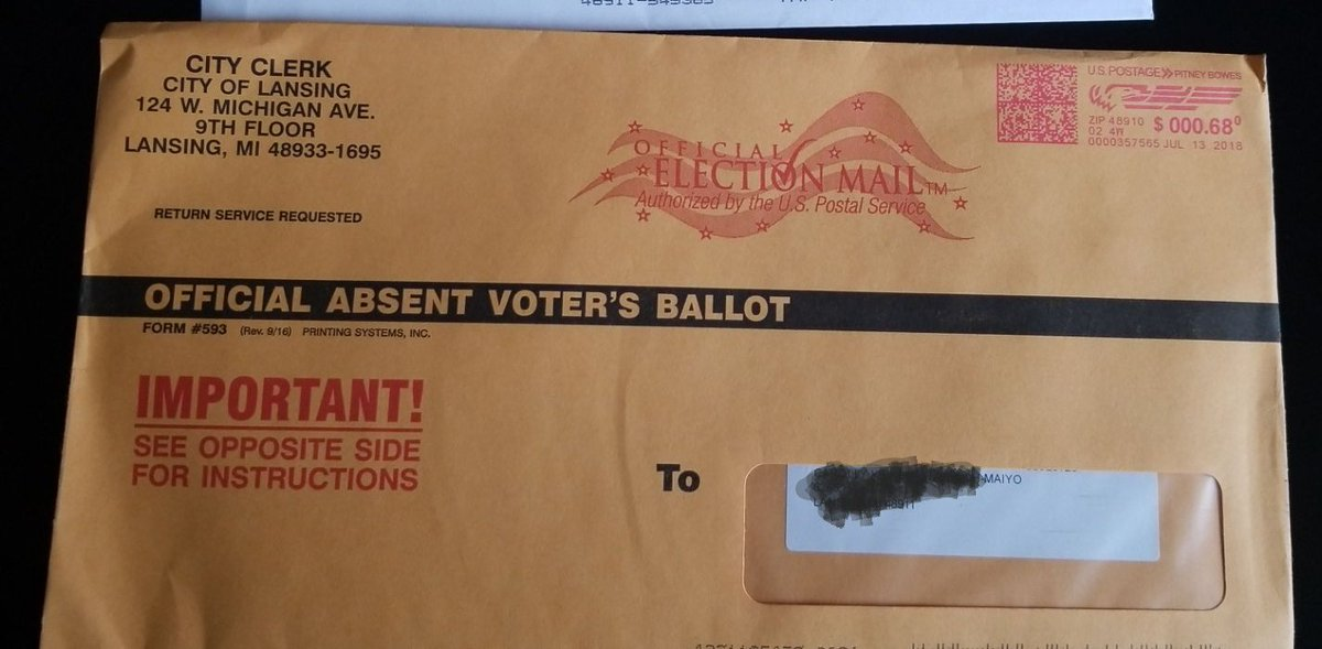 Kc Maiyo On Twitter This Week I Received My Absentee Ballot And