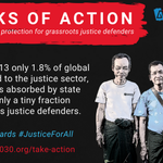 Image for the Tweet beginning: Grassroots justice defenders are bringing