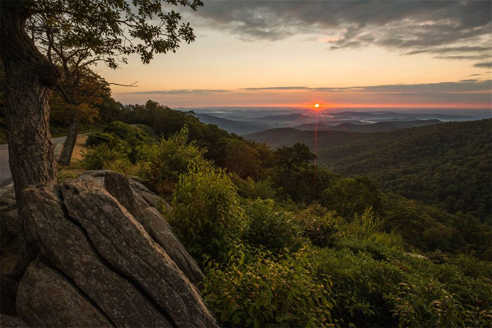 Another amazing sunrise on America's public lands! Hazel Mountain Overlook @ShenandoahNPS in #Virginia #FindYourPark
