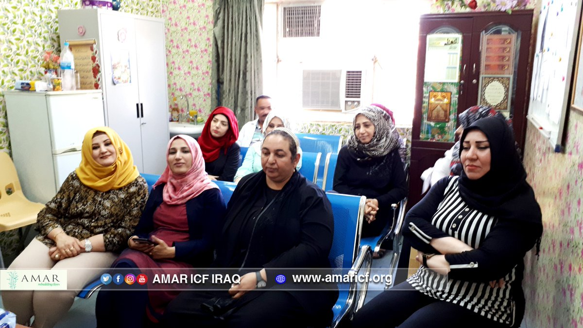 test Twitter Media - Some of our wonderful Women Health Volunteers attending a lecture in our #Baghdad office on hemorrhagic fevers this week. WHVs are local women who provide medical advice & education to families within their communities & play a central role in AMAR's healthcare work in #Iraq https://t.co/VWNwJNDdt4