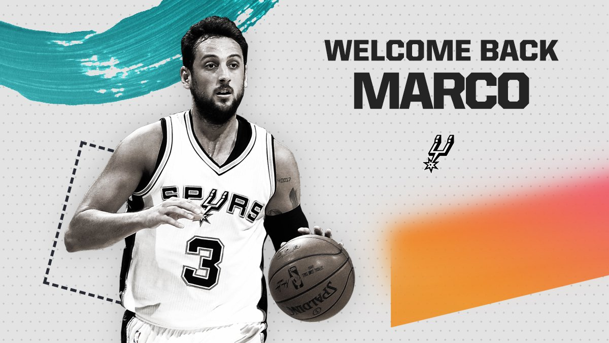 The San Antonio Spurs today announced that they have signed guard Marco Belinelli. More: gospu.rs/2Nxucj0