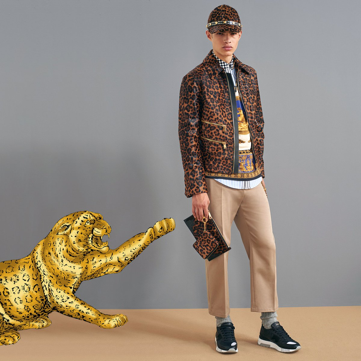 Wild 'n out. Discover the #VersacePreFall18 animalier prints for him now: https://t.co/NoSI7cjSmf