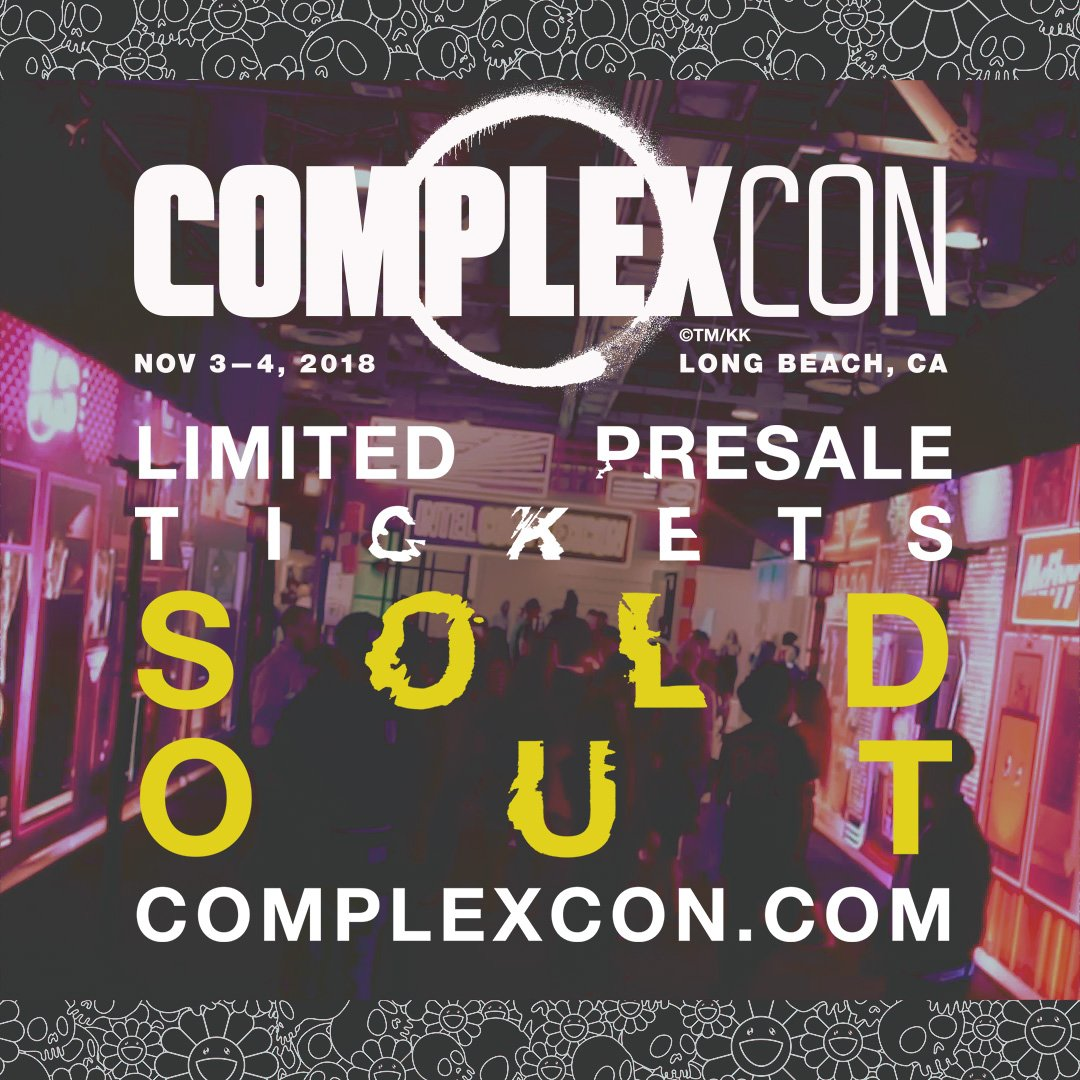 Who was able to cop a ticket? See you in Long Beach 🙌 For all the latest updates follow @ComplexCon