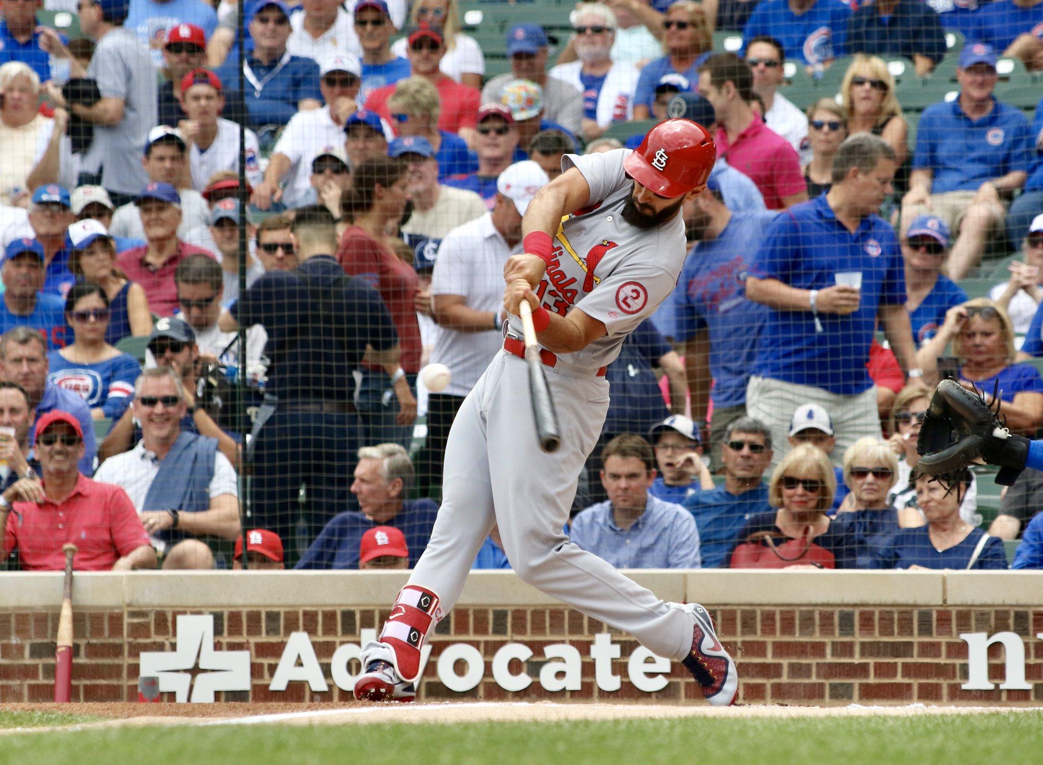 We'll have what he's having!   5-for-5, 3 HR, 2 2B, 4 R, 7 RBI... it's the 6th inning!  #STLCards https://t.co/PkKoZTNXA1