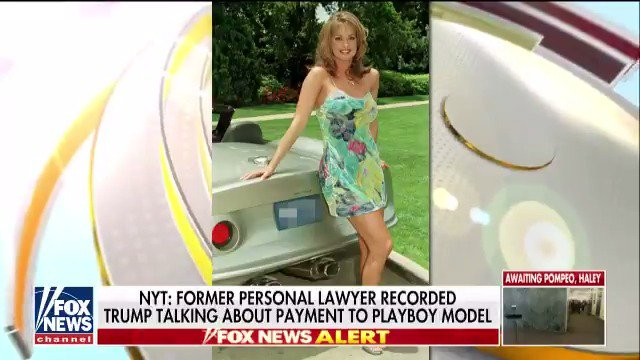 NEWS ALERT: NYT: Former personal lawyer recorded Trump talking about payment to Playboy model; @pdoocy reports. https://t.co/wH4ZhJXjhJ