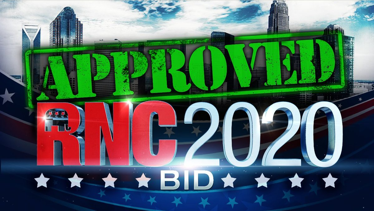 BREAKING: RNC unanimously selects Charlotte as the host city for #RNC2020 @wsoctv