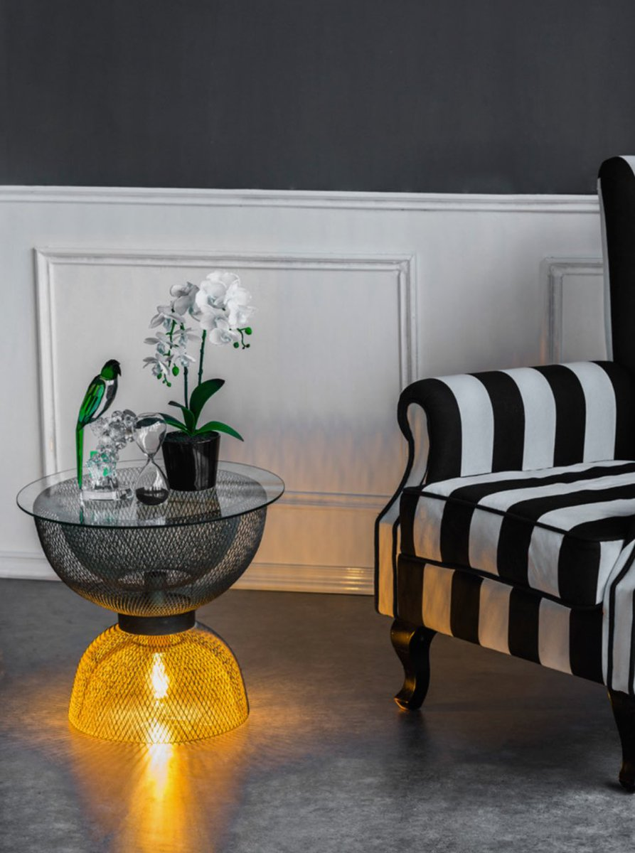 Furnished by farrah on twitter need that unique flair in your home this side table has a great light feature that will blow your mind 💡