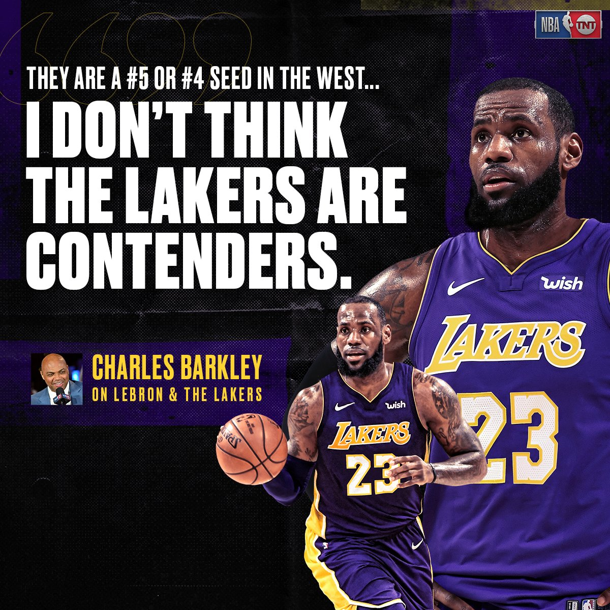 Chuck weighs in on LeBron & the new-look Lakers. 👀