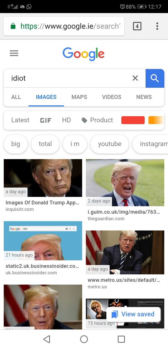 Googleda ahmak görmek isteyen, karşısında Trumpı buluyor