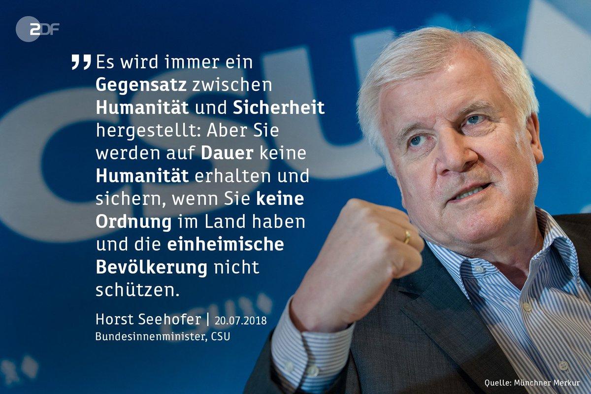 Bundesinnenminister Horst #Seehofer will nach der Kritik an seiner Flüchtlingspolitik das direkte Gespräch mit den Kirchen suchen.