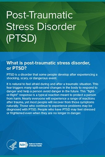 Learn the basics of PTSD and how you or a loved one can find help: https://t.co/nfdU2KR9wM https://t.co/0fchBMjeOp