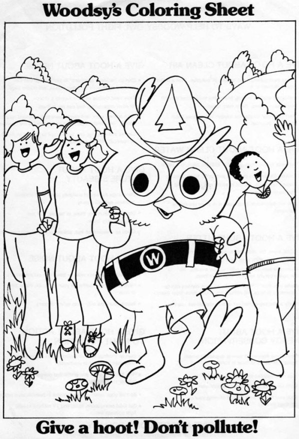 Woodsy Owl On Twitter Here S A Classic Giveaway Woodsyowl Sheet From Days Gone By Woodsy Wants To Include A Limited Edition Brand New Coloring Book In A Package For Those Who Order