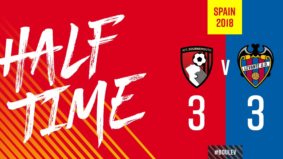 Weve had the lead and been behind, but a crazy half ends level. Hyndman, Defoe and Simpson on target for us. Watch live ➡️ bit.ly/live-afcb-leva… #afcb 🍒