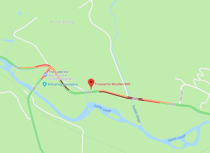 test Twitter Media - ❗NEW❗ 19:50⌚  #A84 Kilmahog around Trossachs Woollen Mill - hearing of an RTC in the area ⚠️ Police are on scene, more info to follow. Traffic queuing in both directions.  @NWTrunkRoads https://t.co/LY6mXKTmrE