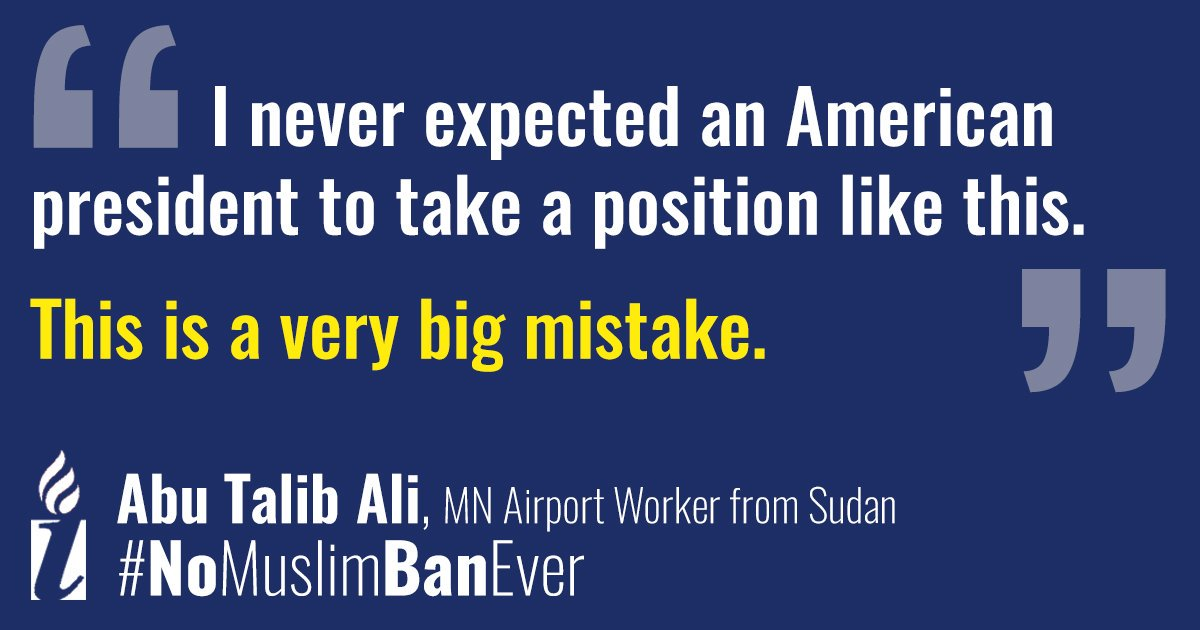Family is an American value. But under this administration, we've seen children torn from their parents at the border, Dreamers & TPS holders separated from their loved ones and Muslim families separated at our airports & banned from reuniting.  #NoMuslimBanEver#MuslimBan