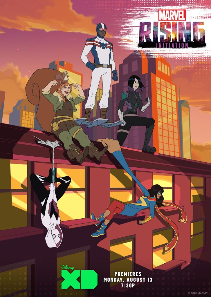 Stand out. Rise together. See the team in action when #MarvelRising: Initiation premieres August 13th on @DisneyXD! https://t.co/eVZV0pESkd