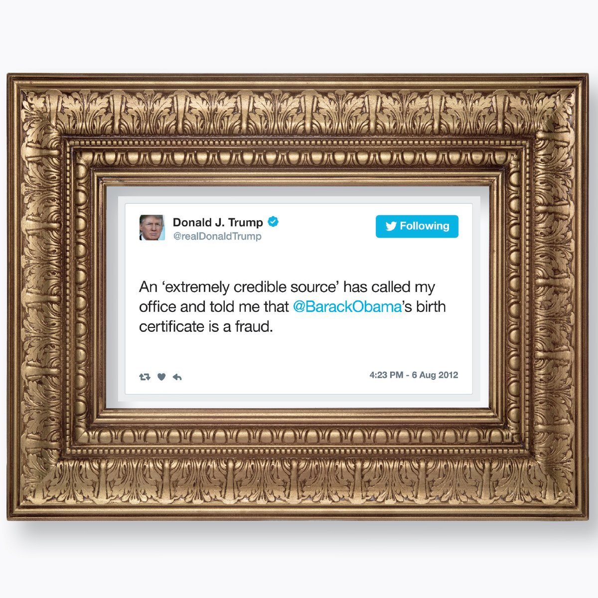 The Daily Show On Twitter In Honor Of Obama S Trip To Kenya This Week We Present Perhaps Trump S Most Critically Acclaimed Twitter Masterpiece Featured In The Donald J Trump Presidential Twitter Library