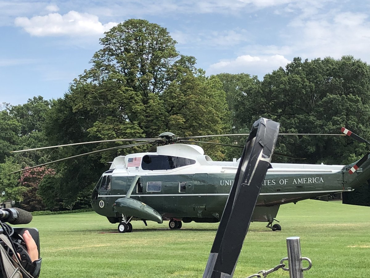 So many questions for President Trump today but he just walked past dozens of reporters—myself included— without taking questions on the South Lawn of the White House. He's off to spend a weekend in NJ now.