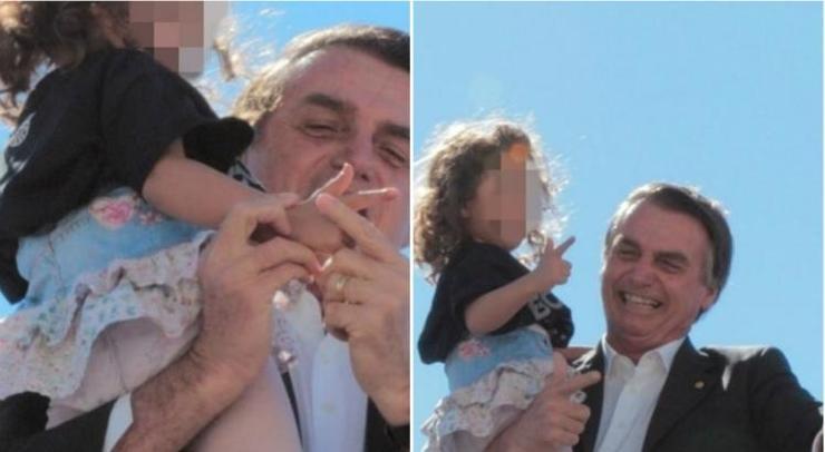 Jair Bolsonaro ensina criança a fazer arma com os dedos e é atacado nas redes sociais https://t.co/u0j3lqwOi8