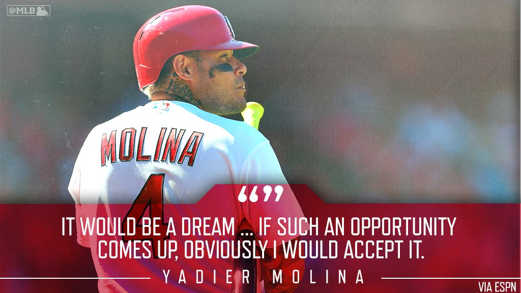 .@Yadimolina04 is into the player-manager idea for his last season in 2020. Are you? https://t.co/abqQXZNxTo