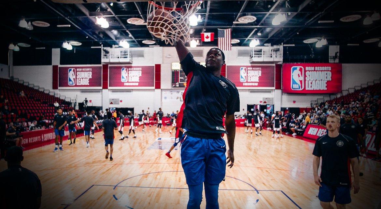 .@AngelDelgado had an excellent debut at the @NBASummerLeague. #NBASummer  📸 | https://t.co/DOHTcA88cS
