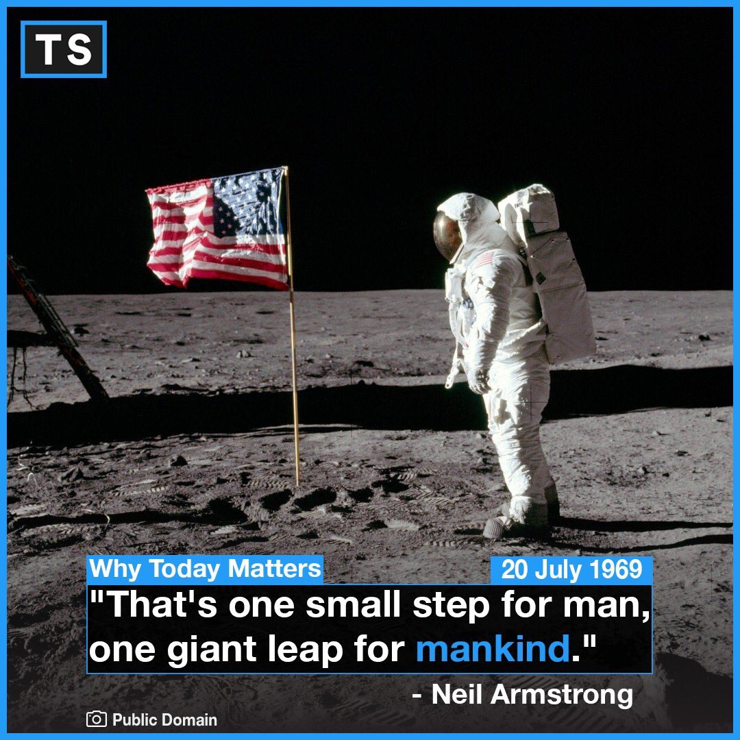 The astronaut in this photo is Buzz Aldrin, not Neil Armstrong. At 10:56 p.m. EDT, astronaut Neil Armstrong, 240,000 miles from Earth, with more than a billion people listening at home,Armstrong becomes the first human to walk on the moon.. #History #Space #Moon #NASA #Iconic