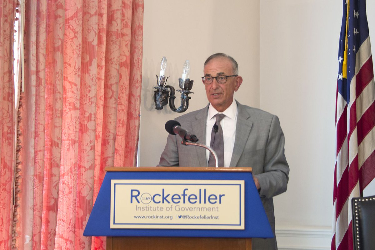 """""""We have a collective sense... to safeguard the people at the margins of society— indeed, that is how we will be judged."""" - Scott Fein on the New York State Constitution at yesterday's @RockefellerInst / @AlbanyGLC forum.  Learn more: https://t.co/xsS64GegJA"""