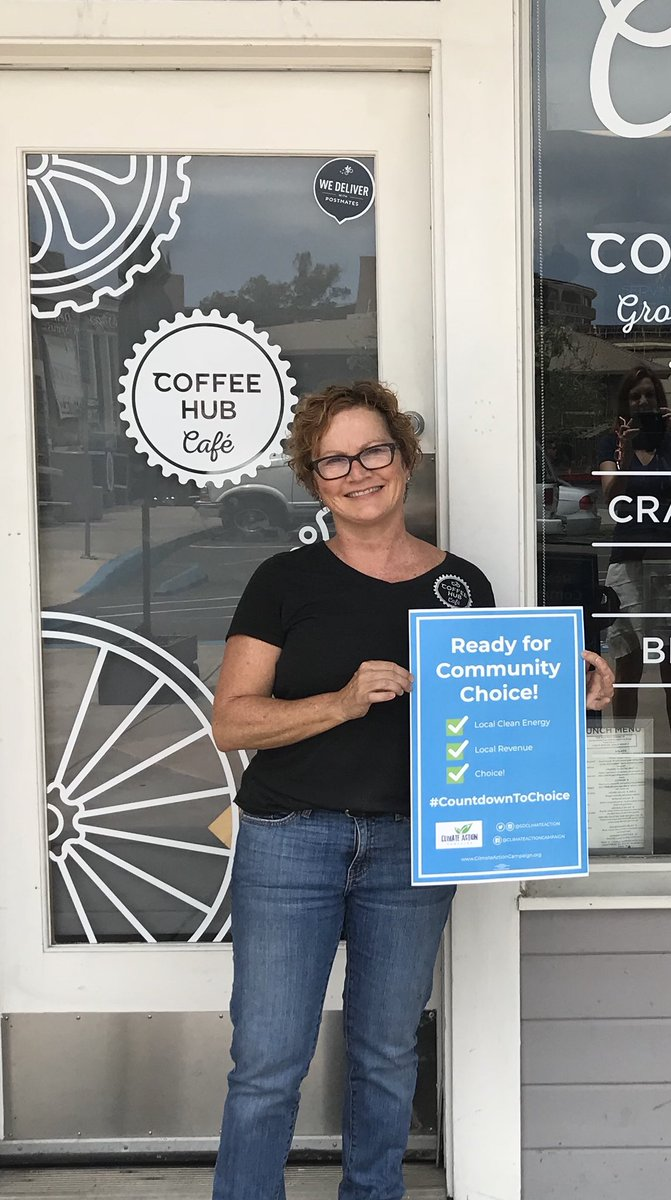 Small businesses are the backbone of San Diego's economy and they are ready for Choice! Thanks Coffee Hub Cafe in Point Loma for joining the nearly 3,000 small biz in support of Community Choice 😃 #LetsVote #CountdownToChoice