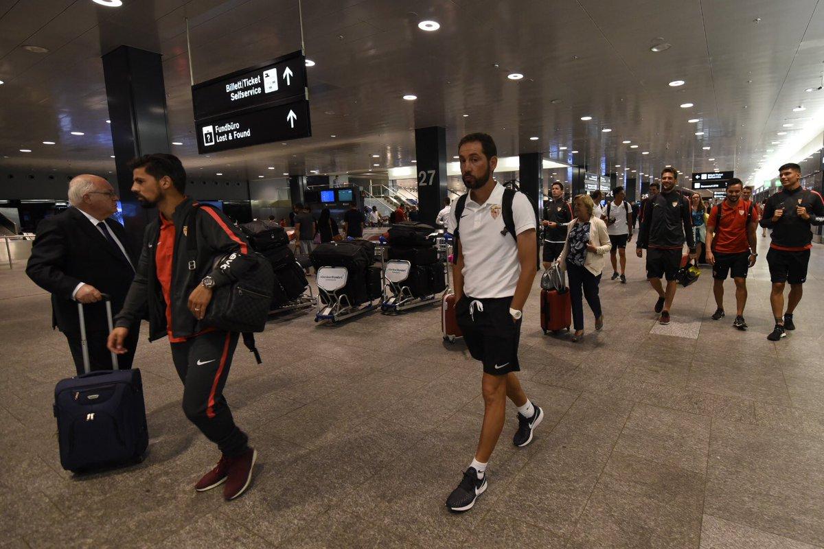 De Benidorm a Sevilla y ya estamos en 🛬 Zúrich 🇨🇭 donde mañana nos espera el @SLBenfica, no paramos 💪🏼 #vamosmisevilla