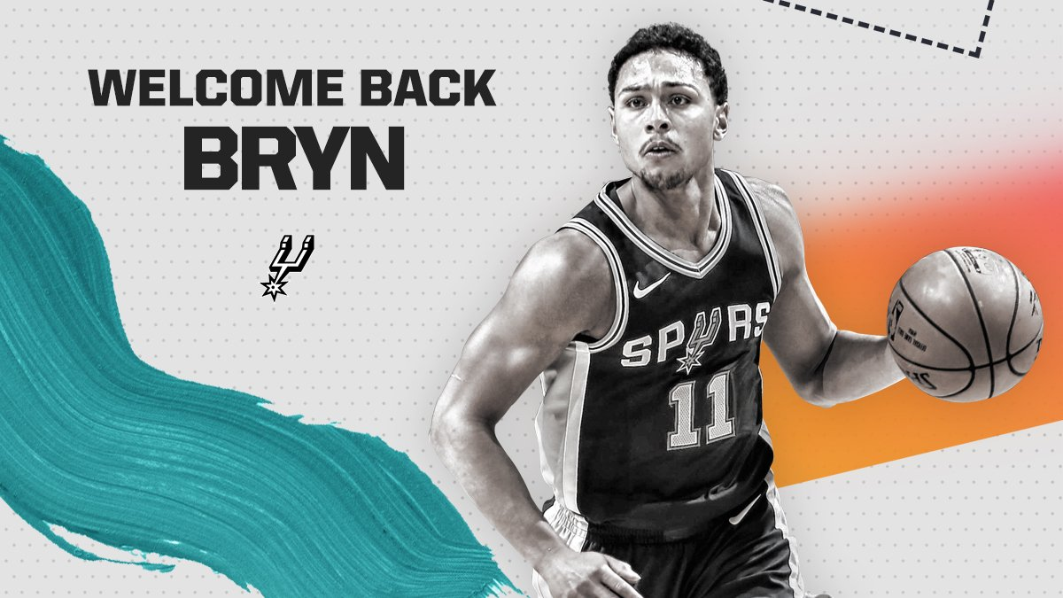 The San Antonio Spurs today announced that they have re-signed guard Bryn Forbes. More: gospu.rs/2zXcR13