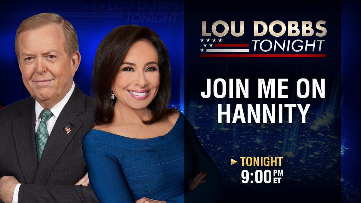 #AmericaFirst- President @realDonaldTrump has been far tougher on Russia than Obama by a wide margin. I join @JudgeJeanine tonight 9p ET. She guest-hosts for @seanhannity on FNC. #MAGA #TrumpTrain #Dobbs #LouDobbsTonight