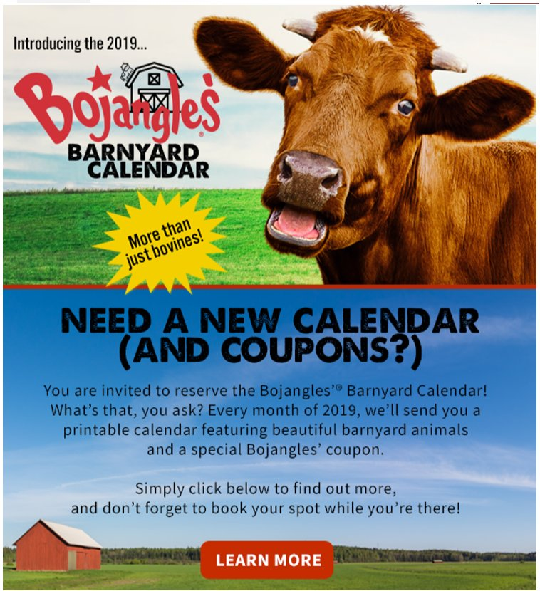photo about Bojangles Printable Coupons referred to as Foody Discount codes (@foodycoupons) Twitter
