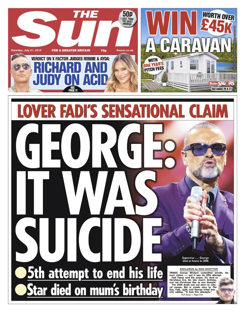 LOVER: George Michael killed self after FOUR failed attempts...