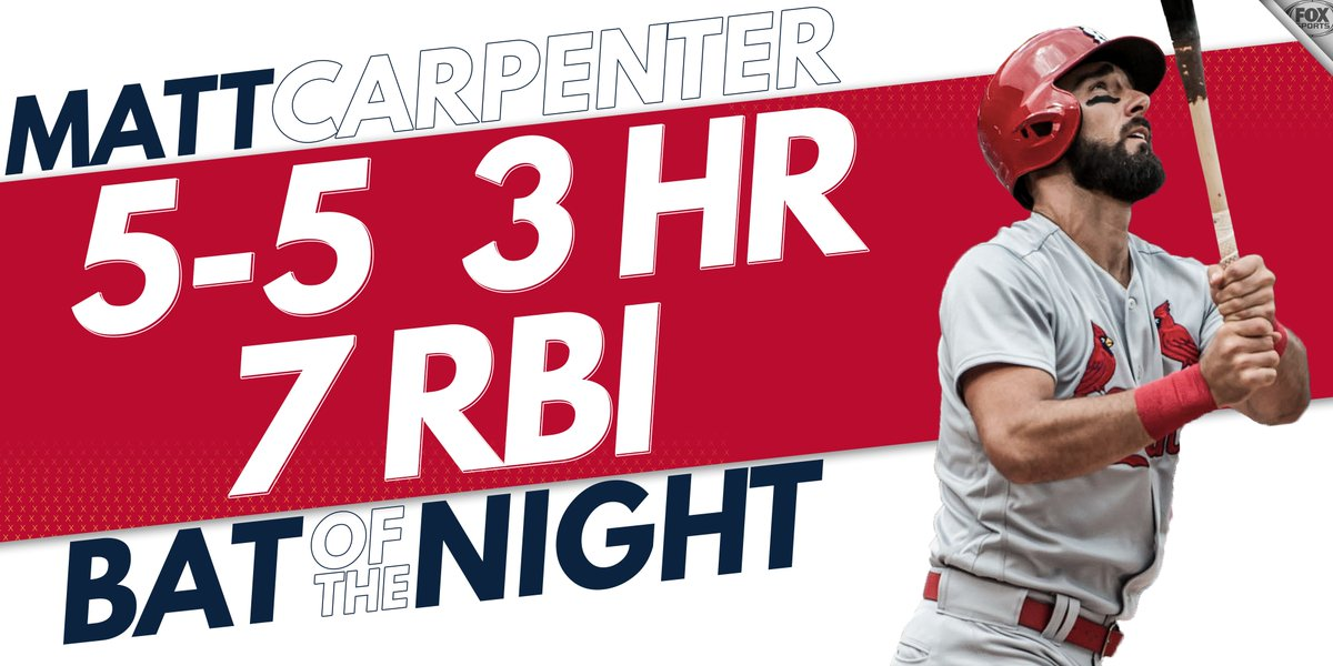 Maybe the best single-game performance we have seen this season. Have a day, Carp.