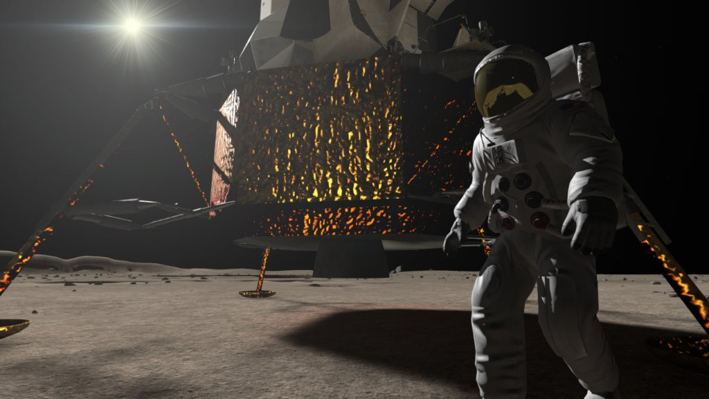 Have you ever dreamed of going to the Moon? Now you can — at least virtually. #Apollo11 VR enables users to relive the mission and take some of the first steps on the Moon. Try it out: https://t.co/RTtAUWrigc