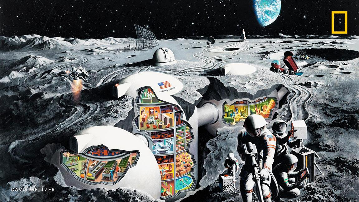 49 years ago today, humans first set foot on the moon. See how Apollo-era scientists envisioned lunar-living https://t.co/S0nMmZhffC
