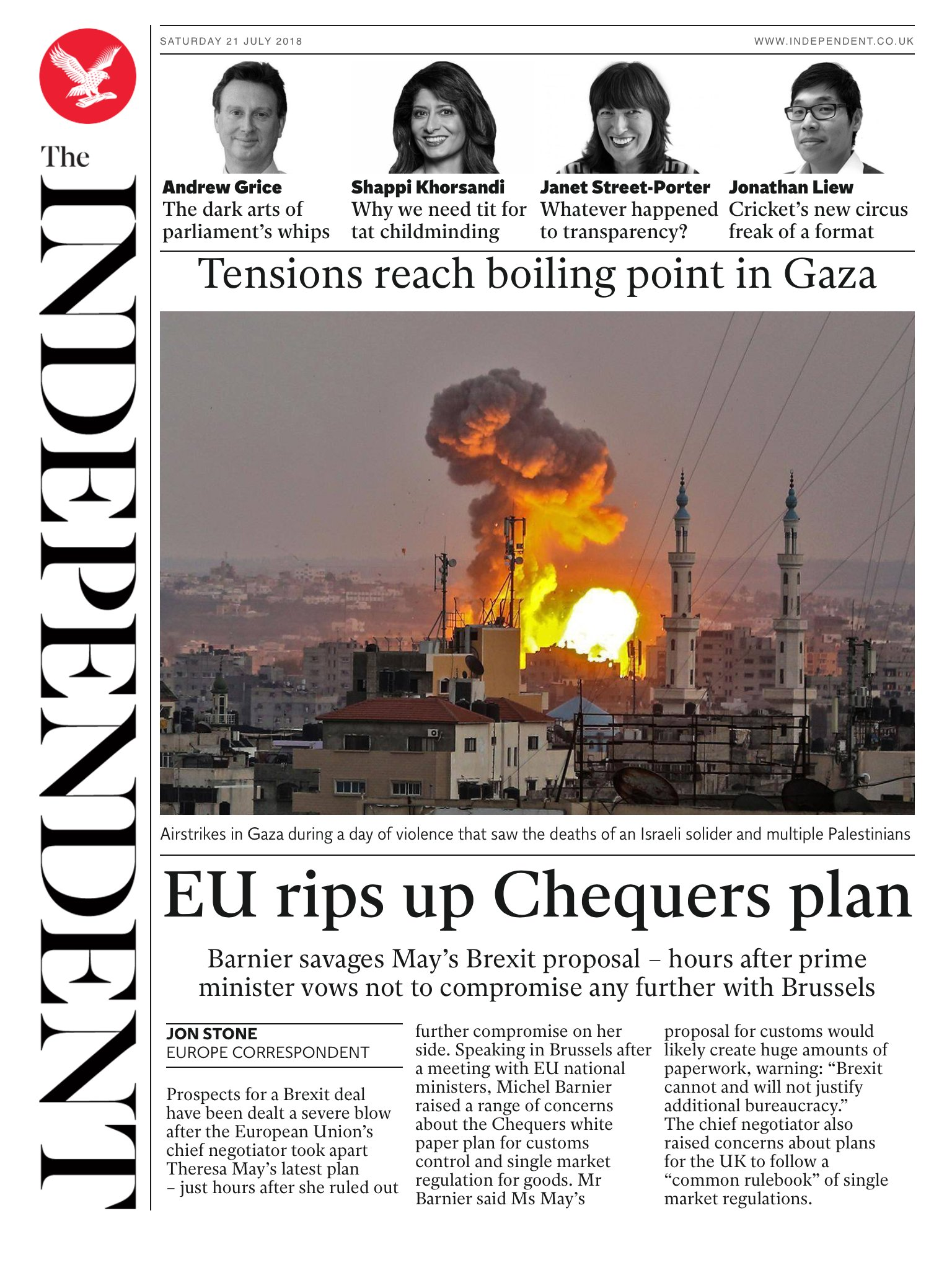 Tomorrow's @independent front page #tomorrowspaperstoday To subscribe to the daily edition: https://t.co/XF8VnDpHYF https://t.co/7RSr5BUkk2