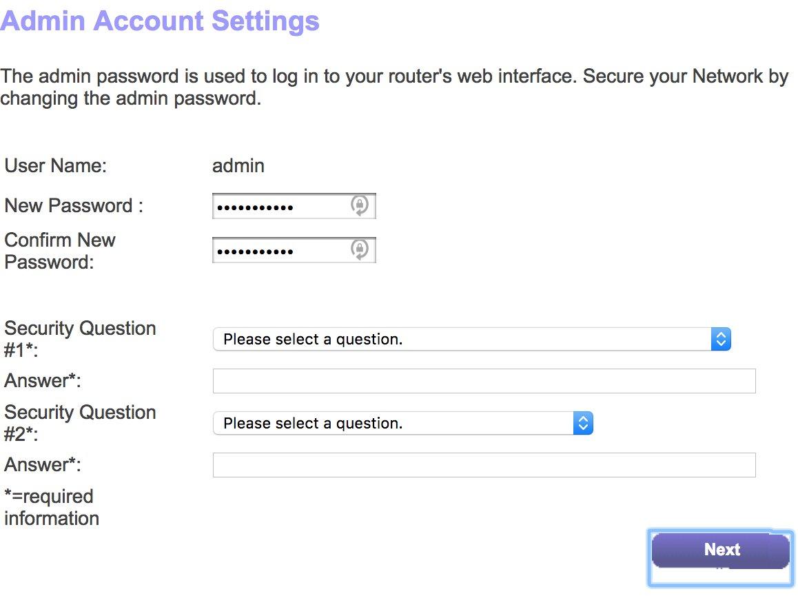 recover admin password netgear router
