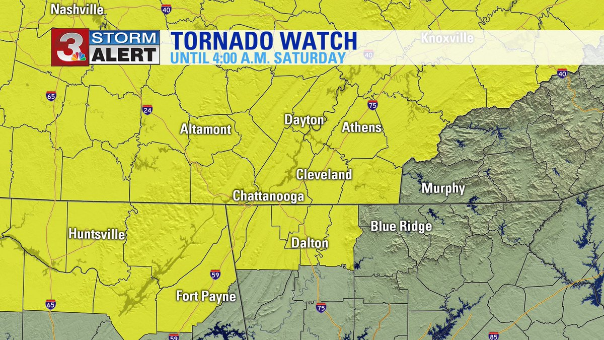 Storm Alert 3 On Twitter Updated Tornado Watch From Nws More