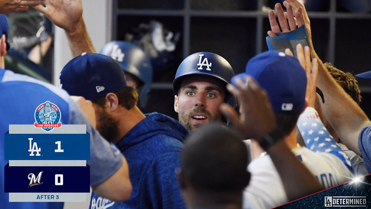 A passed ball makes for the lead. #Dodgers https://t.co/p85LersSrx