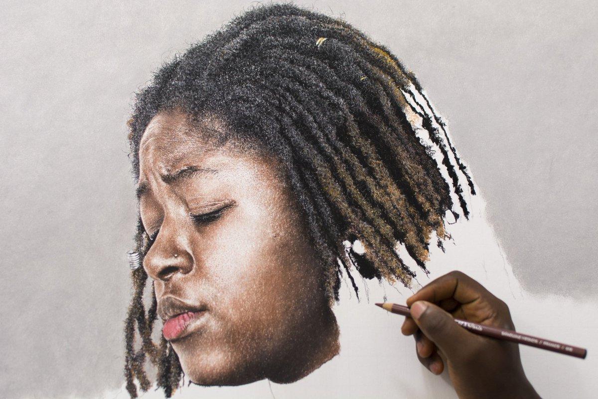 Ayo filade on twitter my coloured pencil drawing in progress ayodraws art drawing dreadlocks