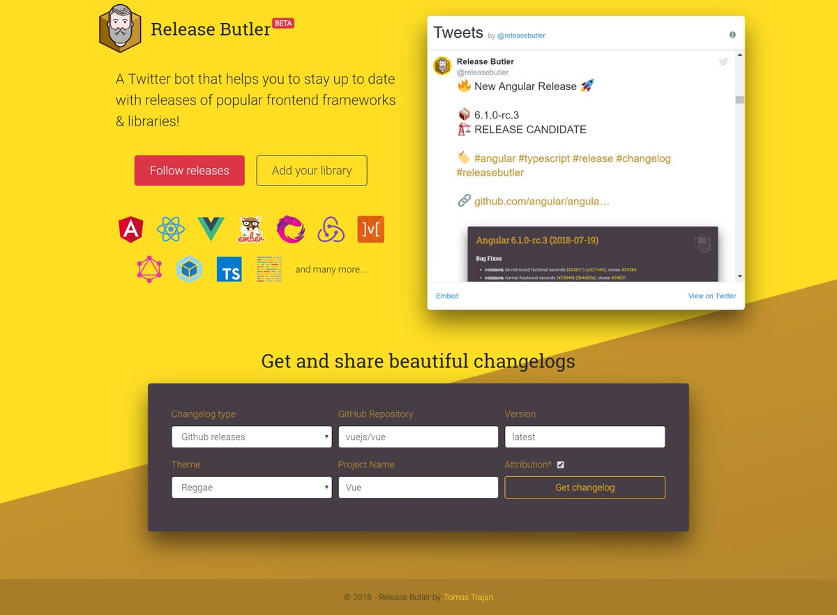 Release Butler (@releasebutler) | Twitter