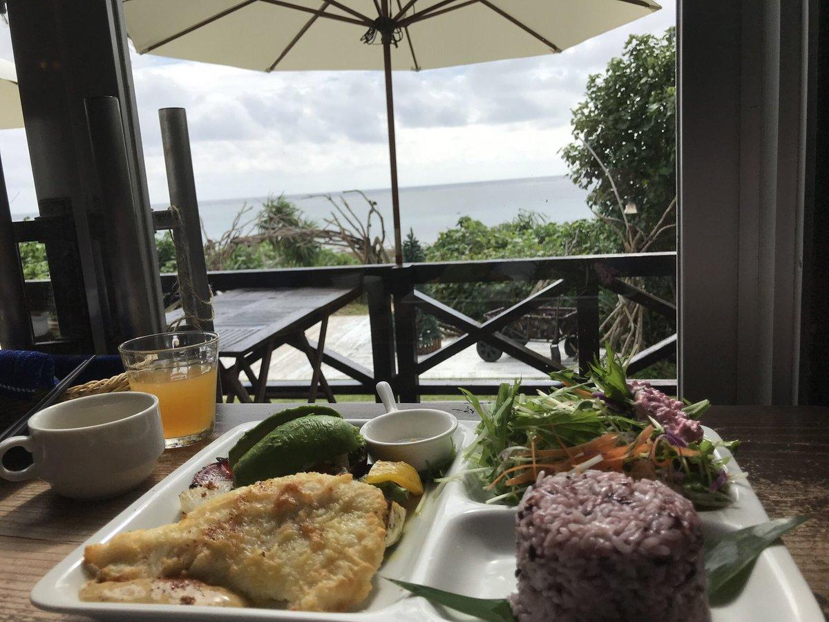 島野菜カフェリハロウビーチ ロケーション○ 味は島内のカフェの中ではまぁいけてるテラスは暑過ぎて無理、店内はクーラー弱め、ソファー席はテーブル低過ぎて食べづらいのでテーブルもしくわカウンター席がおススメ、写真にはないですが海老のガーリック🦐が個人的に好き #石垣ランチ #島野菜カフェ
