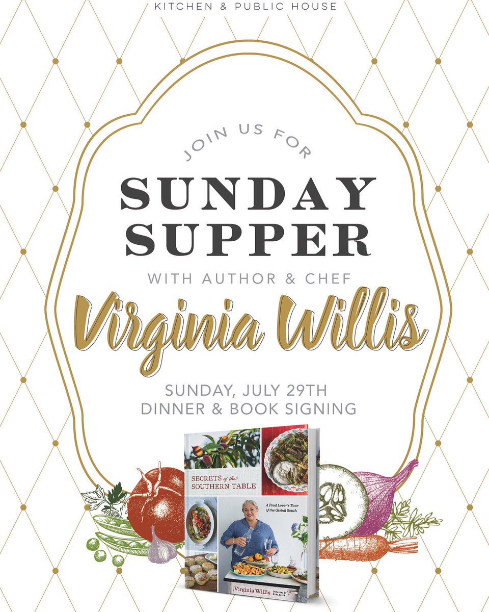 .@eatregional is hosting me for a SECRETS OF THE SOUTHERN TABLE #SundaySupper on 7/29 in #westpalmbeach #Florida