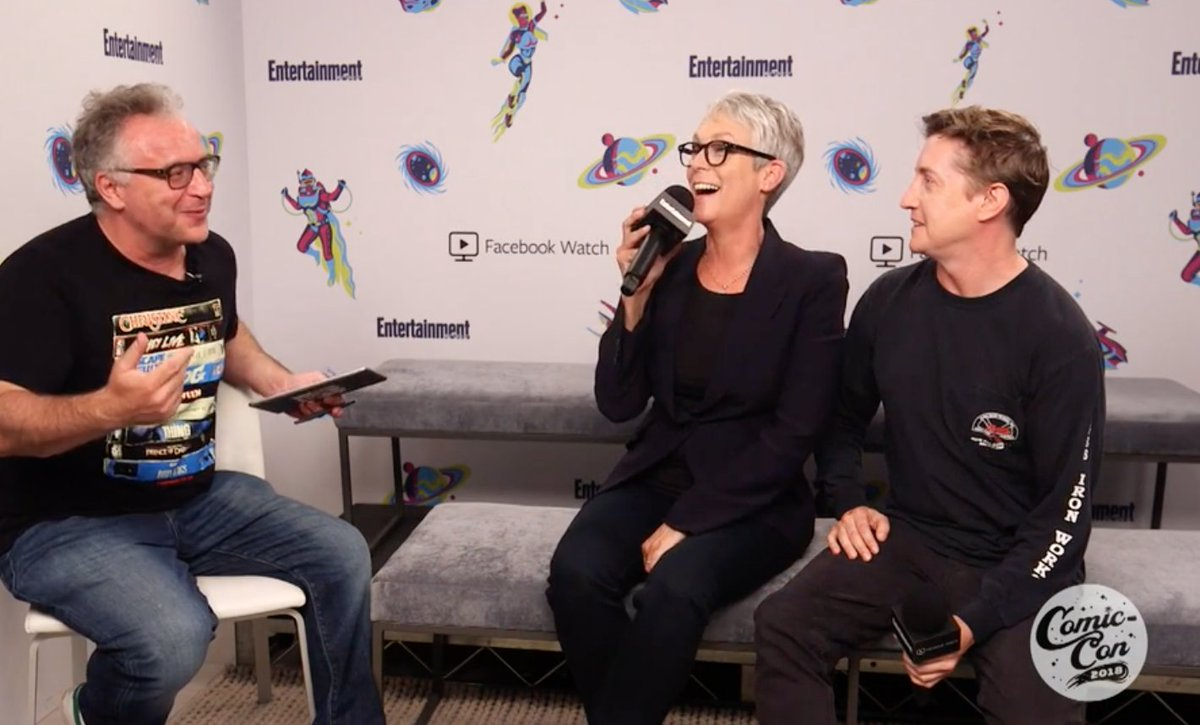 Did you miss our Facebook Live with #Halloween's @jamieleecurtis and David Gordon Green at #ComicCon2018? Watch it here: https://t.co/I8YeS2DqPM #EWComicCon