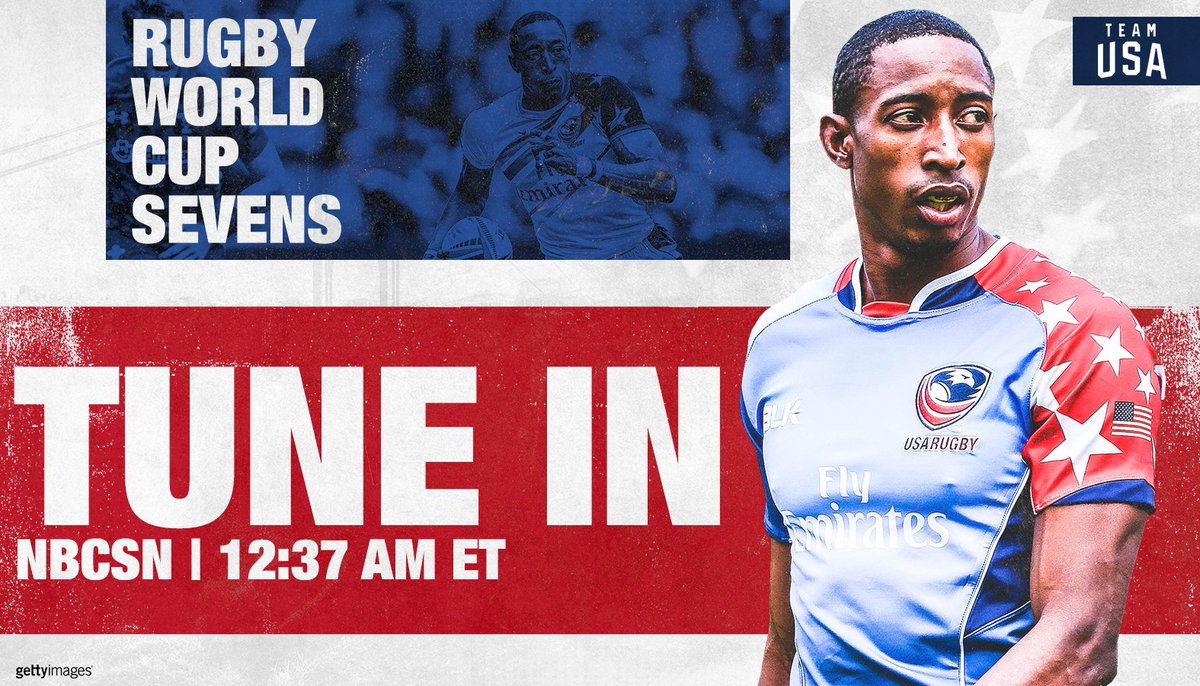 The U.S. men hit the pitch in just 1️⃣ hour on @NBCSN!   🇺🇸 vs. 🏴 ⏰ 12:37a ET  #️⃣ #RWC7s