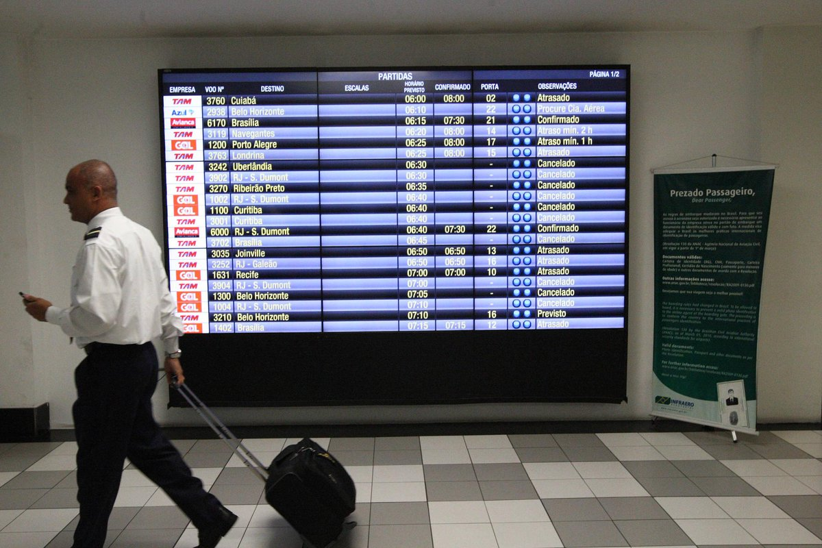 Em menos de 24 horas   Pane em voos equivaleu a 1/3 do impacto da greve de caminhoneiros https://t.co/2d8BQYgQtQ