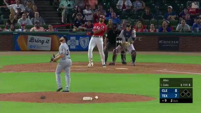 Down to the final out ...  @JoeyGallo24, 4⃣7⃣2⃣ feet! OMG. https://t.co/hFnyI75Vnn